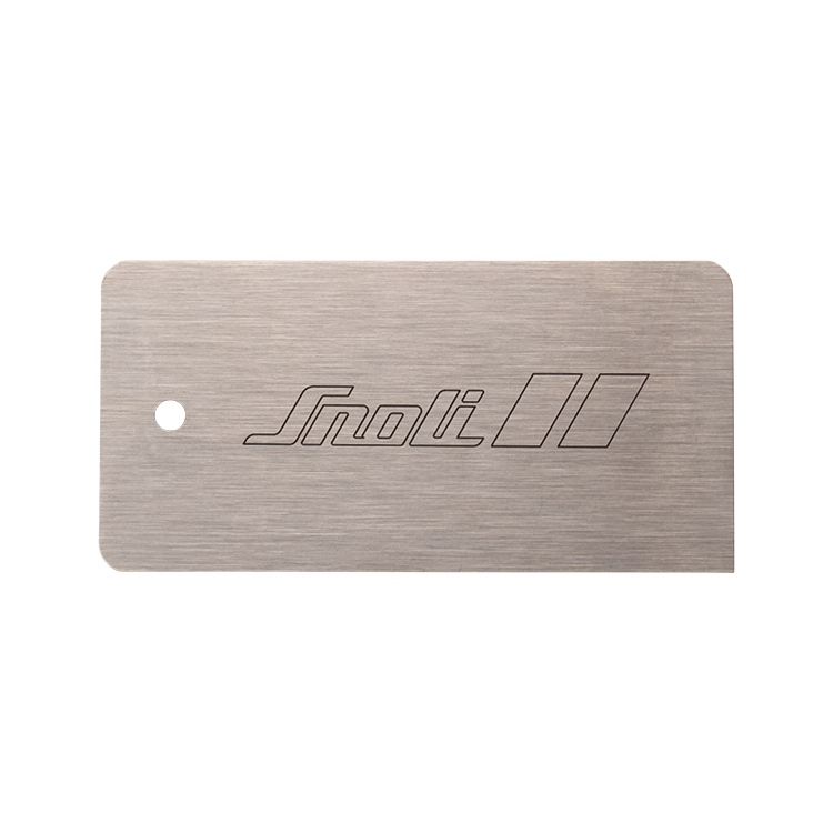SNOLI Metallklinge Nirosta 125x60x0,8 mm im Etui
