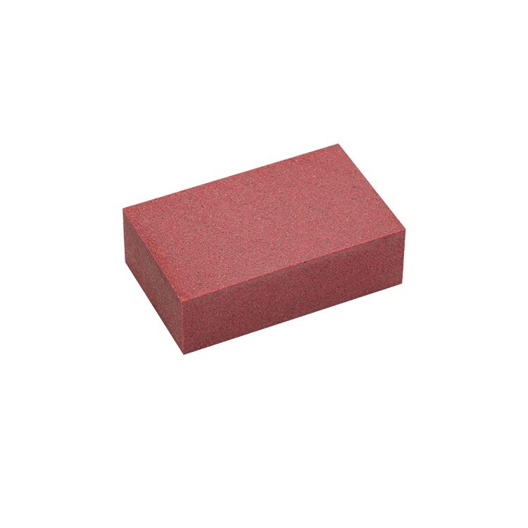 SNOLI Rubber Edge Polishing Block, very fine, 65 x 40 x 20 mm, in blister packaging